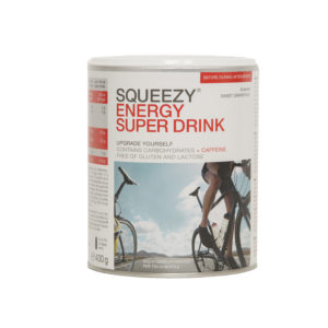 SQUEEZY ENERGY SUPER DRINK w. caffeine 400-g-tin